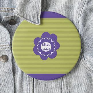 Ultra violet pantone 2018 design 6 inch round button