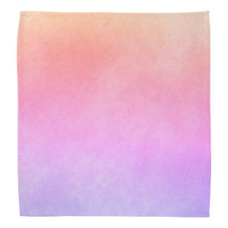 Ultra violet peach and golden gradient bandana