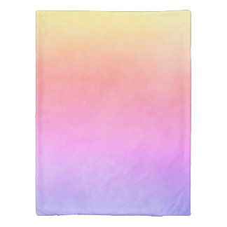 Ultra violet peach and yellow gradient duvet cover