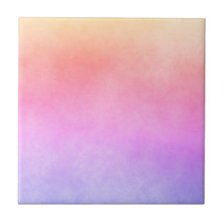 Ultra violet peach purple and yellow gradient tile