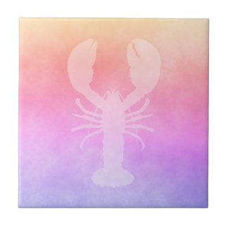 Ultra violet peach purple golden gradient lobster tile