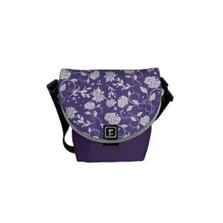 Ultra Violet Poetry Garden Flower Messenger Bag