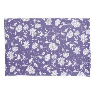 Ultra Violet Poetry Garden Flower Pillowcase