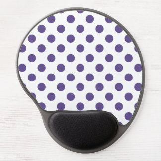 Ultra violet polka dots on white gel mouse pad