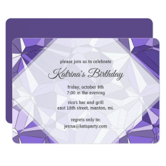 Ultra Violet Prism Pattern Party Invitation