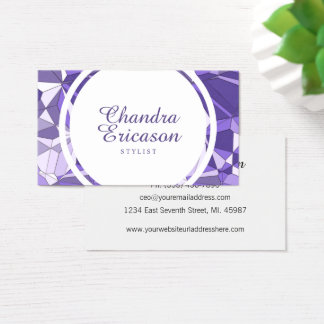 Ultra Violet Prism STYLIST Business Card
