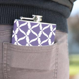 Ultra Violet Purple Bell Flower Meadow Bellflower Hip Flask