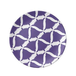 Ultra Violet Purple Bell Flower Meadow Bellflower Plate