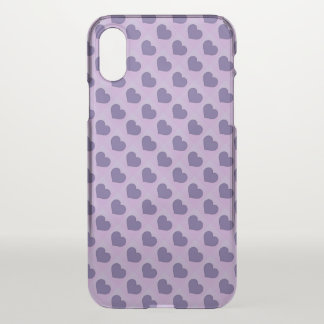 Ultra Violet Purple Candy Hearts iPhone X Case