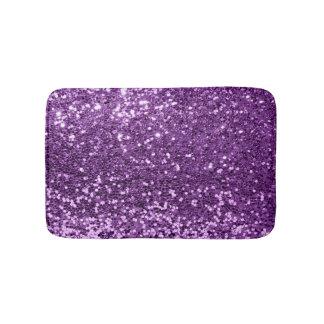 Ultra Violet Purple Glitter Magenta Amethyst Spark Bath Mat