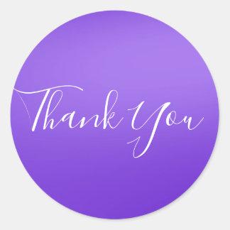 Ultra Violet Purple Shine Shiny Chic Glam Favor Classic Round Sticker