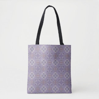 Ultra-Violet Quilt pattern Tote Bag