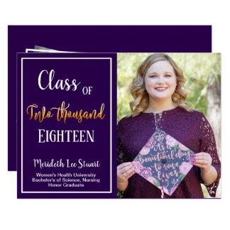Ultra Violet Quote Photo Graduation Announcement