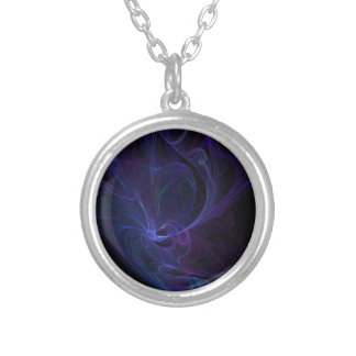 Ultra violet silver plated necklace