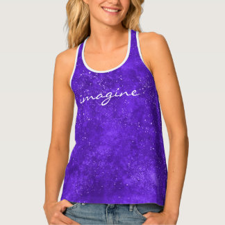 Ultra violet space tank top