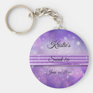 Ultra Violet, Sweet Sixteen, Custom, Party Favor Keychain