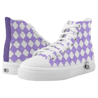 Ultra Violet Teardrops Moroccan Tiles High Tops