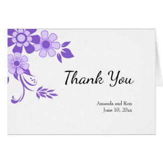 Ultra Violet Thank You Wedding Card
