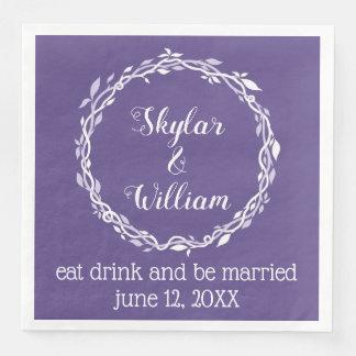 Ultra Violet Wedding Simple Purple Reception Paper Dinner Napkin