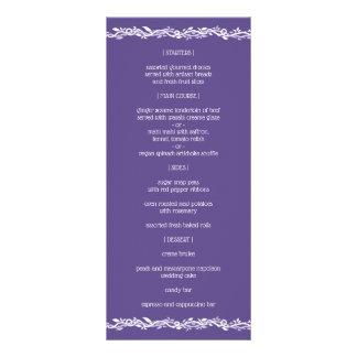 Ultra Violet Wedding Simple Reception Menu