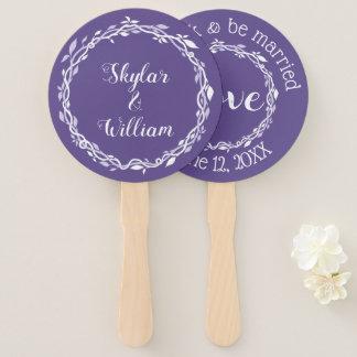 Ultra Violet Wedding Simple Spring Summer Fun Hand Fan