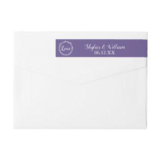 Ultra Violet Wedding Simple Sweet Purple Love Wrap Around Label