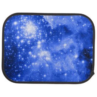 Ultramarine Blue Colored Stars Car Mat