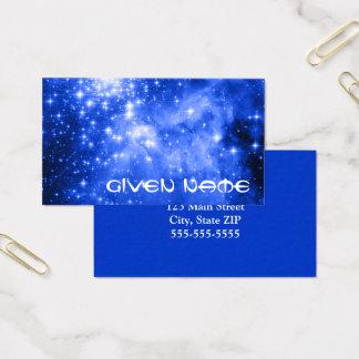 Ultramarine Blue Stars Business Card
