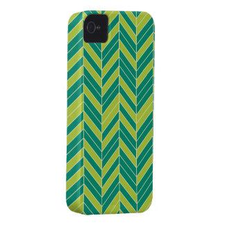 Ultramarine Chartreuse Herringbone Case-Mate iPhone 4 Cases