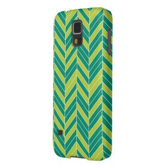 Ultramarine Chartreuse Herringbone Galaxy S5 Case