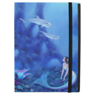 Ultramarine Mermaid and Dolphins iPad Pro Case