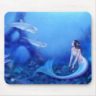 Ultramarine Mermaid Art Mousepad