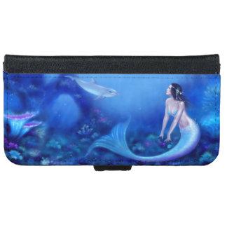 Ultramarine Mermaid & Dolphin iPhone 6 Wallet Case