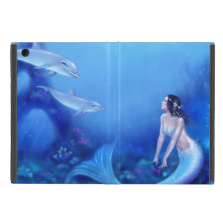 Ultramarine Mermaid & Dolphin Mini iPad Air Case