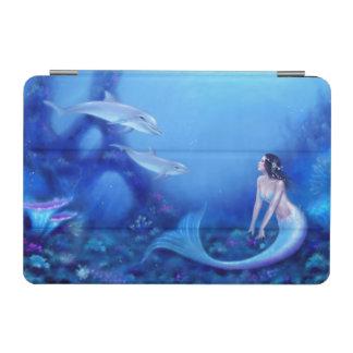 Ultramarine Mermaid & Dolphins iPad Mini Case