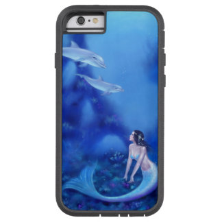 Ultramarine Mermaid & Dolphins iPhone 6 Tough Case