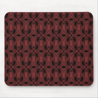 Ultramod Art Deco Mousepad, Dark Red Mouse Pad