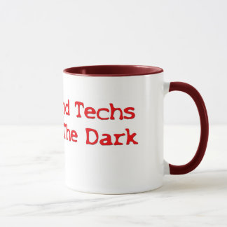 Ultrasound Techs Do It In The Dark Red Type Logo Mug