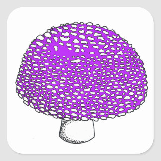 Ultraviolet Mushroom Fungus Shroom Square Sticker