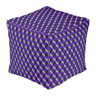 Ultraviolet Optical Illusion Modern Patterned Pouf