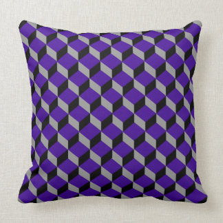 Ultraviolet Optical Illusion Modern Patterned Throw Pillow