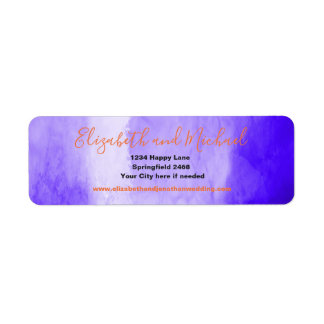 Ultraviolet/ Purple Watercolor   with orange text
