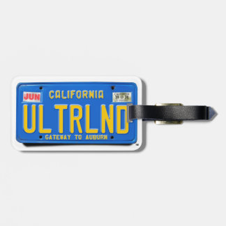 ULTRLND: CA 1974 Blue License Plate Luggage Tag