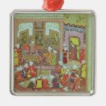 Ulugh Beg  dispensing justice at Khurasan Metal Ornament