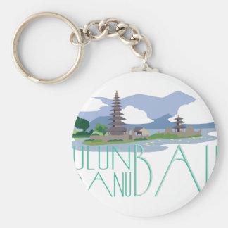 Ulun Danu Bali Basic Round Button Keychain