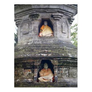Ulun Danu Temple statues, Bali, Indonesia Postcard