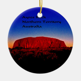 Uluru, Aboriginal Sacred Site Round Ceramic Ornament