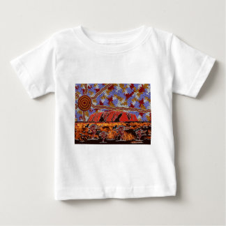Uluru - Authentic Aboriginal Art Baby T-Shirt