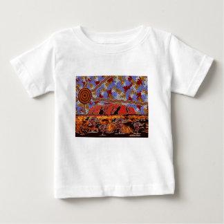 Uluru - Authentic Aboriginal Art Baby T-Shirt