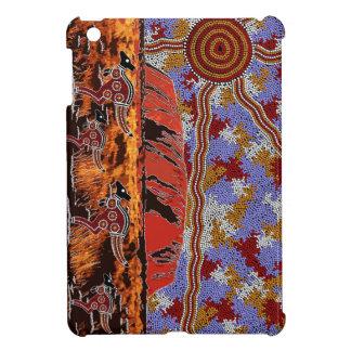 Uluru - Authentic Aboriginal Art iPad Mini Cover